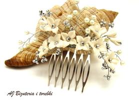 Gałązka-ozdoba do włosów ślubna