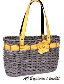 Koszyk brązowo-żółty