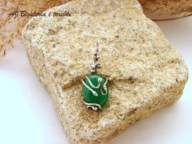 Wisiorek srebrny z jadeitem