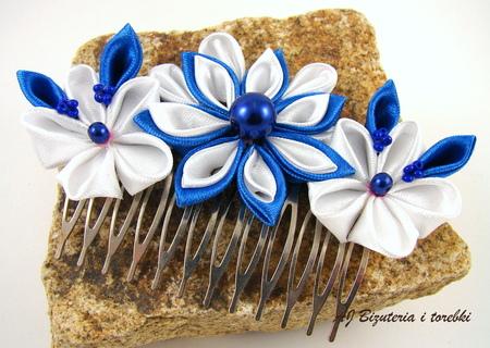 Ozdoba do włosów kanzashi (2)